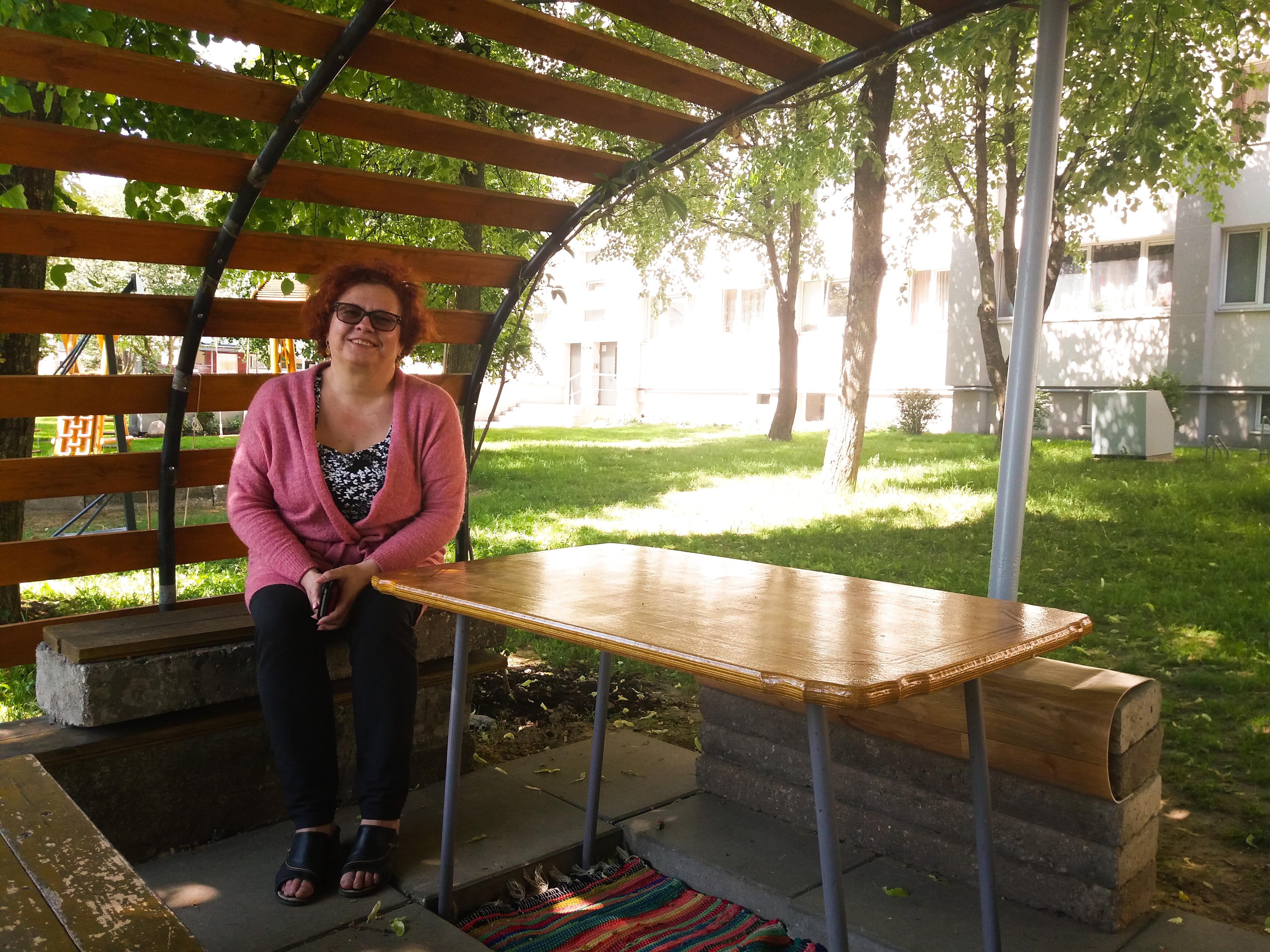 Namo pirmininkė Alma džiaugiasi gyvenanti Gričiupyje.
