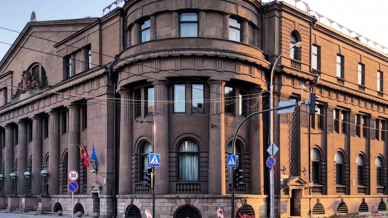 Lietuvos banko rūmai. Maironio g. 25 / K. Donelaičio g. 85 1928 m. Architektas: Mykolas Songaila.