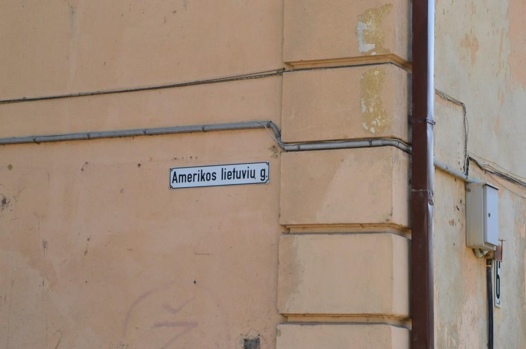 Įdomu, kodėl ši Aleksote esanti gatvė pavadinta Amerikos lietuvių garbei?